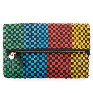 Clare V. Woven Clutch